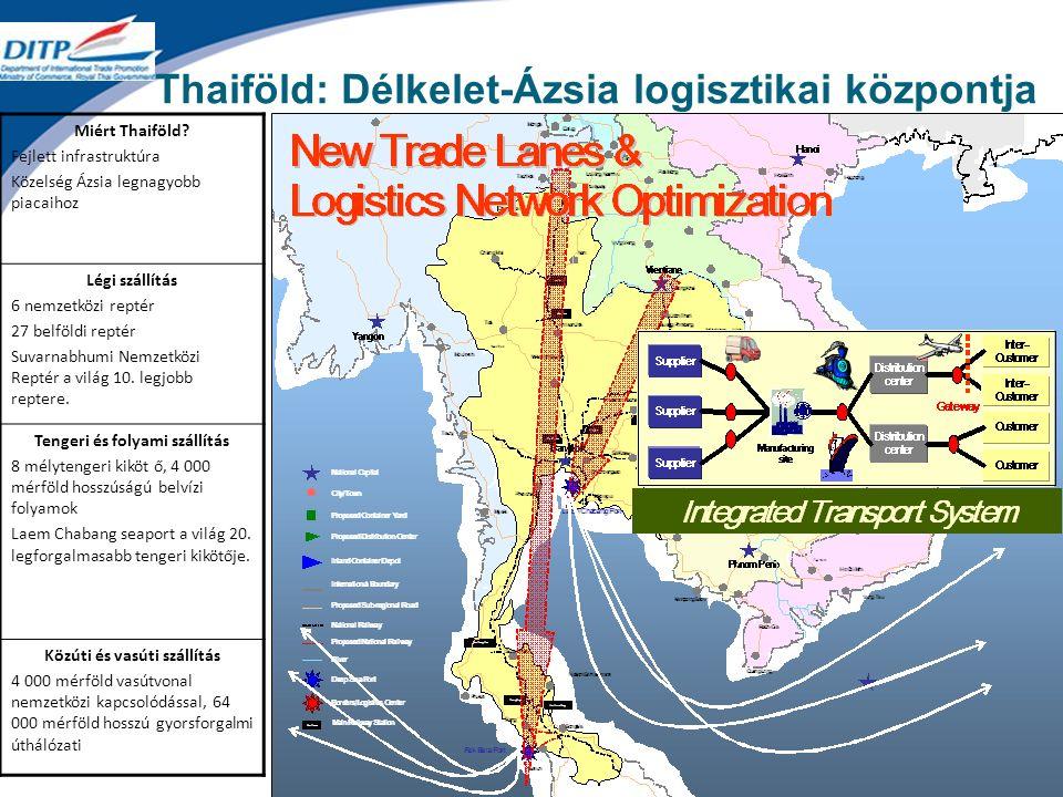 Thaiföld: Délkelet-Ázsia logisztikai központja Miért Thaiföld.