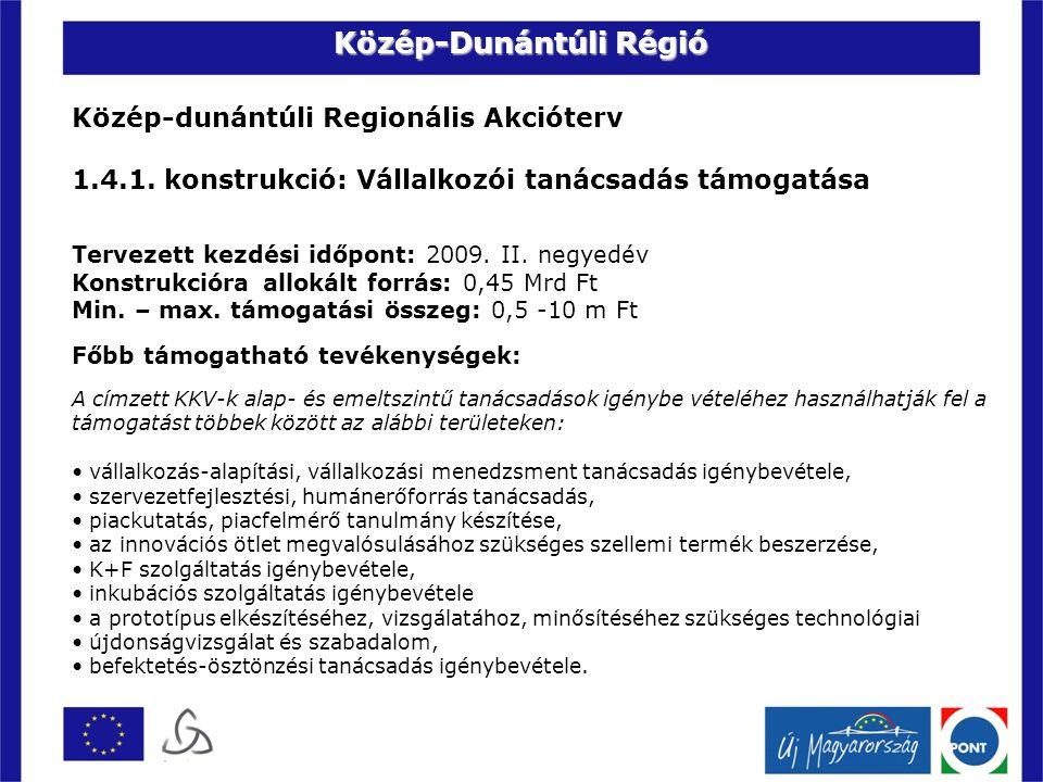 Közép-dunántúli Regionális Akcióterv 1.4.1.