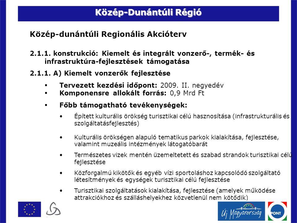 Közép-dunántúli Regionális Akcióterv 2.1.1.