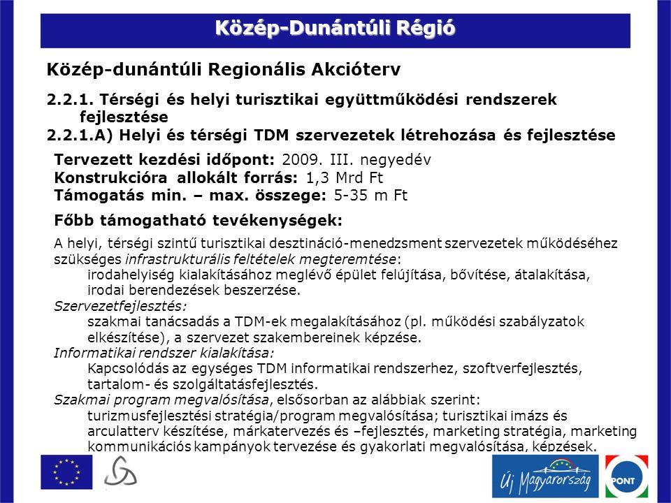 Közép-dunántúli Regionális Akcióterv 2.2.1.