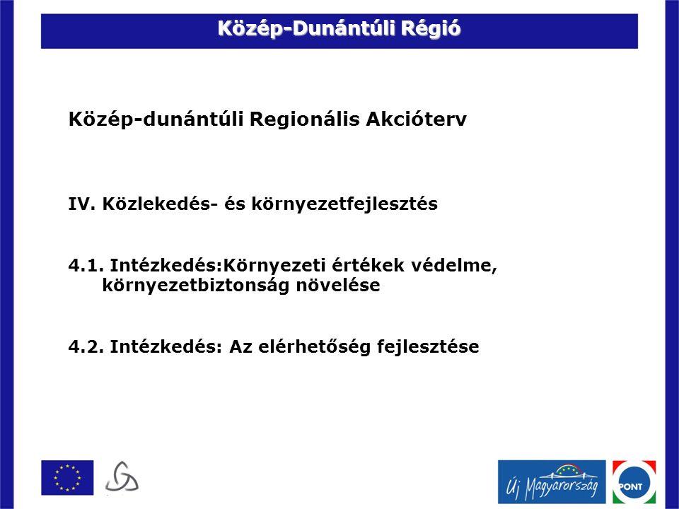 Közép-dunántúli Regionális Akcióterv IV. Közlekedés- és környezetfejlesztés 4.1.