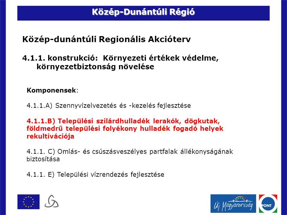 Közép-dunántúli Regionális Akcióterv 4.1.1.