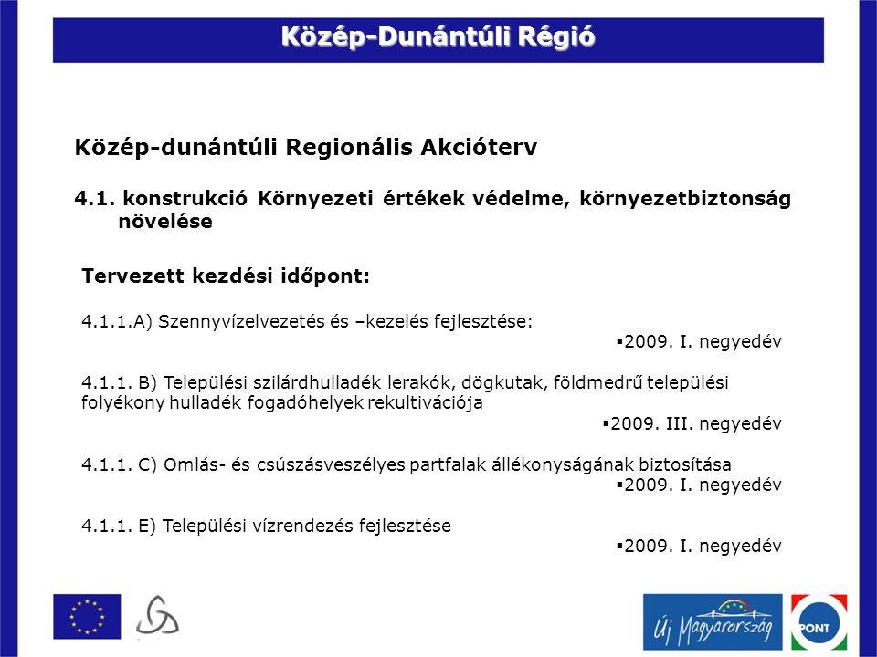 Közép-dunántúli Regionális Akcióterv 4.1.