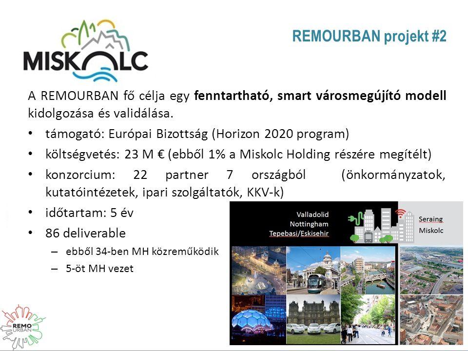 REMOURBAN projekt #2 A REMOURBAN fő célja egy fenntartható, smart városmegújító modell kidolgozása és validálása.