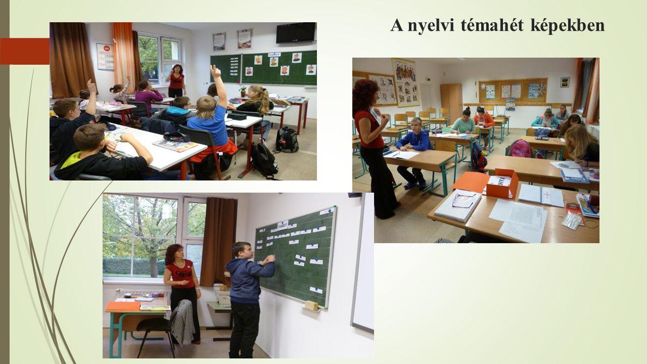 A nyelvi témahét képekben