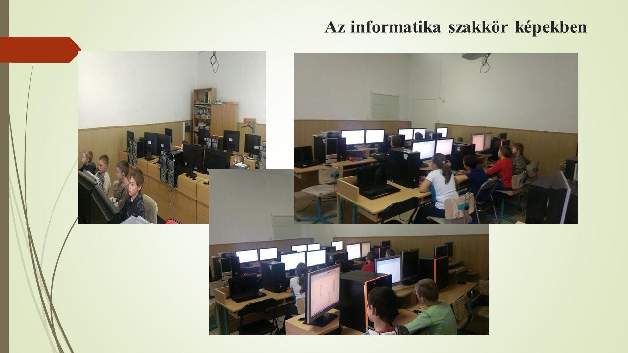 Az informatika szakkör képekben