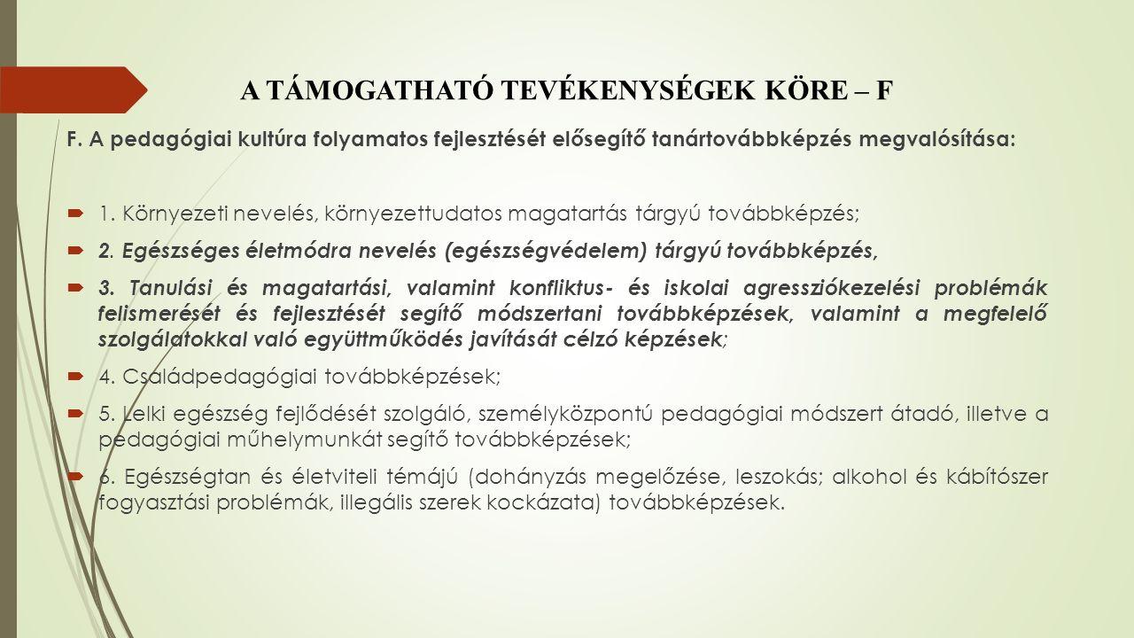 A PROGRAM MEGVALÓSÍTÁSA 2015.MÁJUS 1. – 2015. OKTÓBER 31.