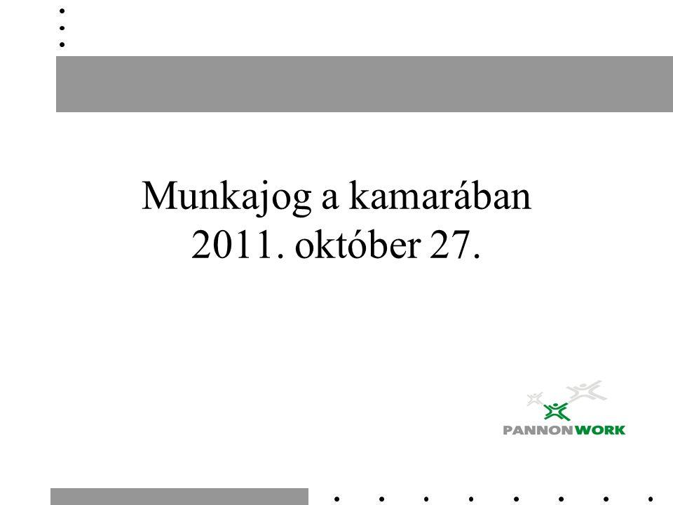 Munkajog a kamarában 2011. október 27.