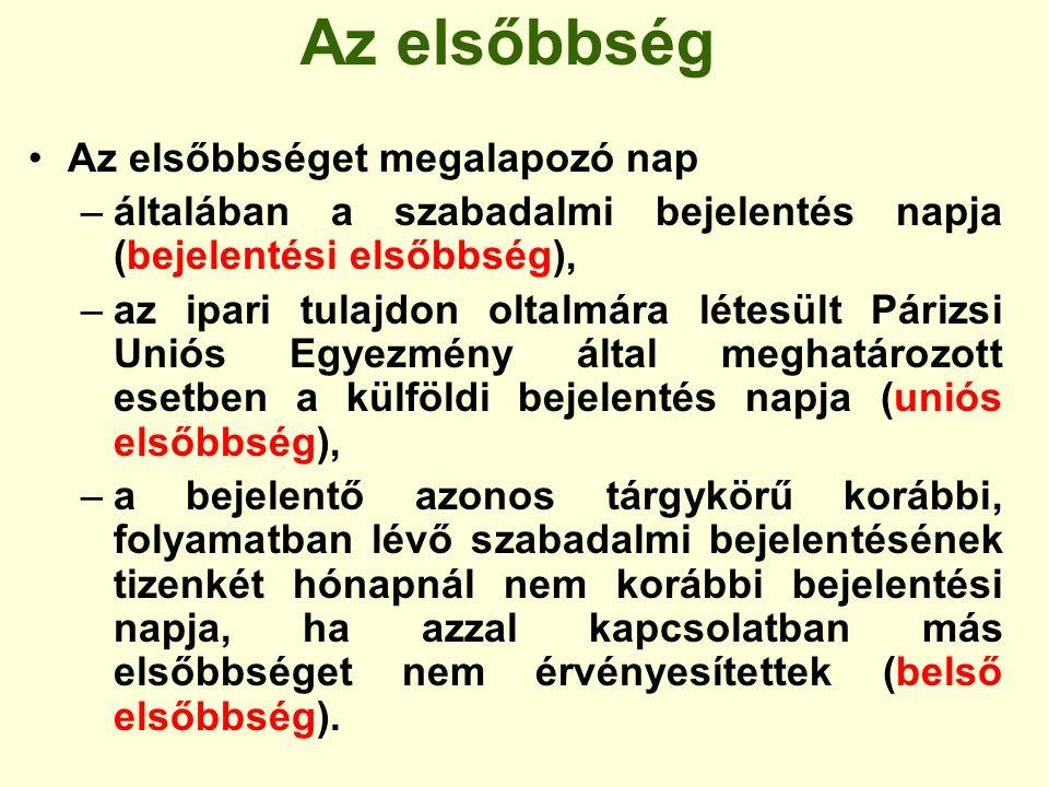 A bejelentés benyújtását követő vizsgálat A Szellemi Tulajdon Nemzeti Hivatala a bejelentés benyújtását követően megvizsgálja, hogy a bejelentés megfelel-e a bejelentési nap elismeréséhez előírt feltételeknek, megfizették-e a bejelentési és kutatási díjat, benyújtották-e a magyar nyelvű szabadalmi leírást, kivonatot és rajzot.