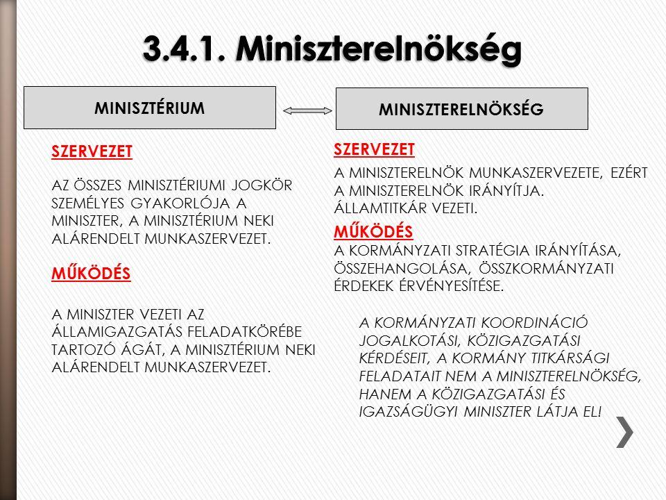 SZERVEZET AZ ÖSSZES MINISZTÉRIUMI JOGKÖR SZEMÉLYES GYAKORLÓJA A MINISZTER, A MINISZTÉRIUM NEKI ALÁRENDELT MUNKASZERVEZET.
