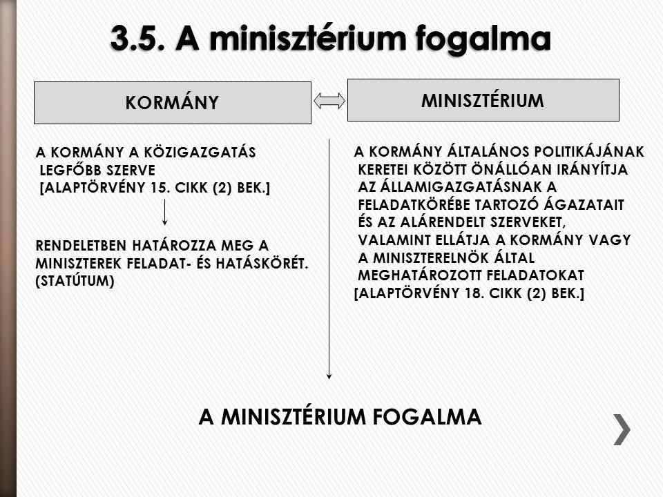 KORMÁNY A KORMÁNY A KÖZIGAZGATÁS LEGFŐBB SZERVE [ALAPTÖRVÉNY 15.