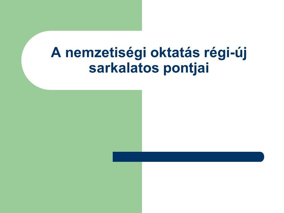 """Az oktatást szabályozó dokumentumok Közoktatási törvény (1993,folyamatos) Nemzeti Alaptanterv (1998,2007) """"Irányelvek (1997,2007) Kerettantervek (2001) Kétszintű érettségi (2005) Pedagógiai Program és Helyi tanterv"""