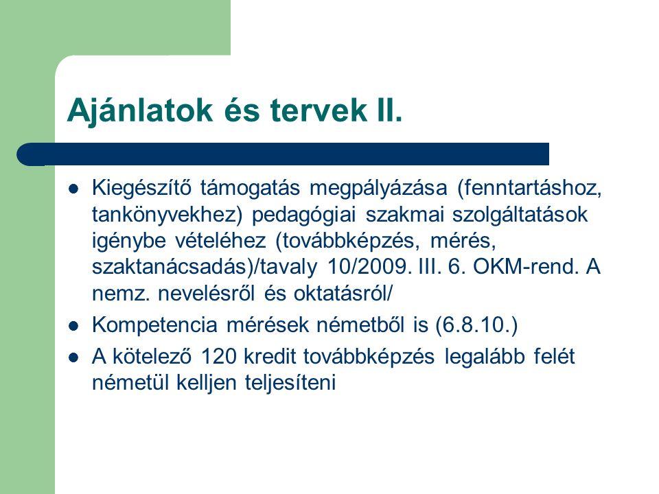 Ajánlatok és tervek III.LdU: szakmai ellenőrzés indítványozása és kivitelezése nemz.
