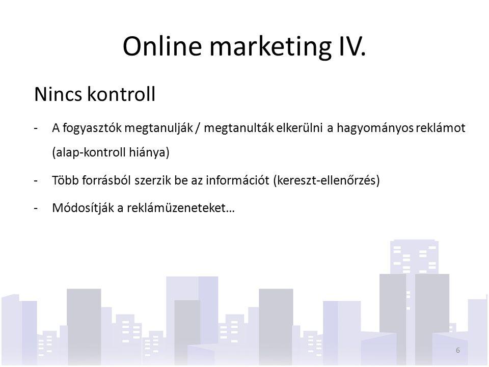 """Online marketing-mix ElérhetőségInteraktivitás Vevő- kapcsolat Promóció Ár Termék Értékesítési csatorna  közvetlen kapcsolat a gyártóval vagy a forgalmazóval  reklamációk, észrevételek, javaslatok  lojalitás kialakításának egyik új eszköze  """"virtuális közösségek szervezése  gyors és közvetlen kapcsolat  eszköztár gazdagítása  új paradigma: termék tervezés, kapcsolatok  globális piac  új kommunikációs és koordináló mechanizmusok 7"""