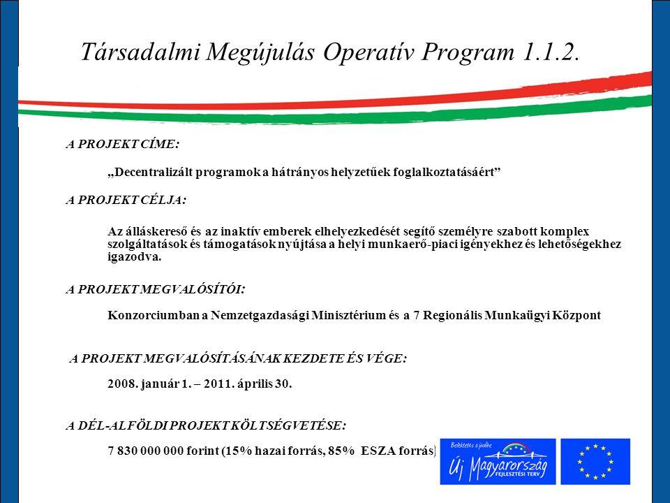 Társadalmi Megújulás Operatív Program 1.1.2.