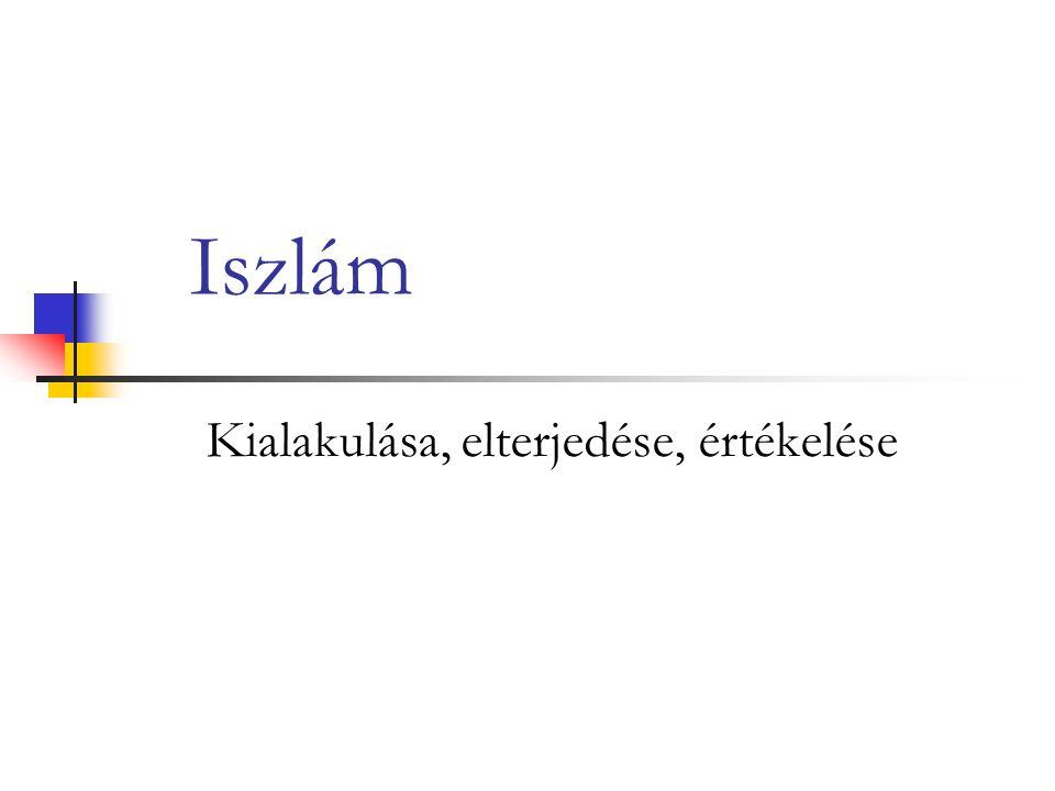 Iszlám Kialakulása, elterjedése, értékelése