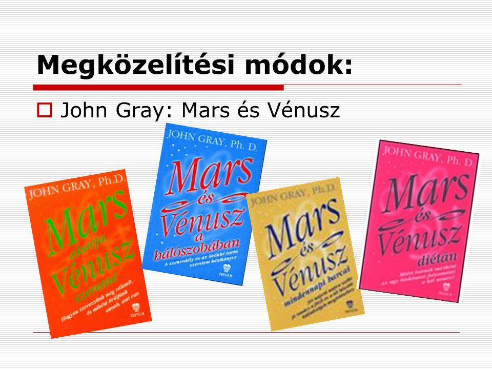 Megközelítési módok:  John Gray: Mars és Vénusz