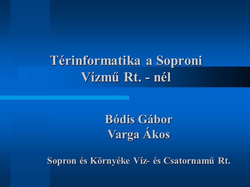 Térinformatika a Soproni Vízmű Rt.