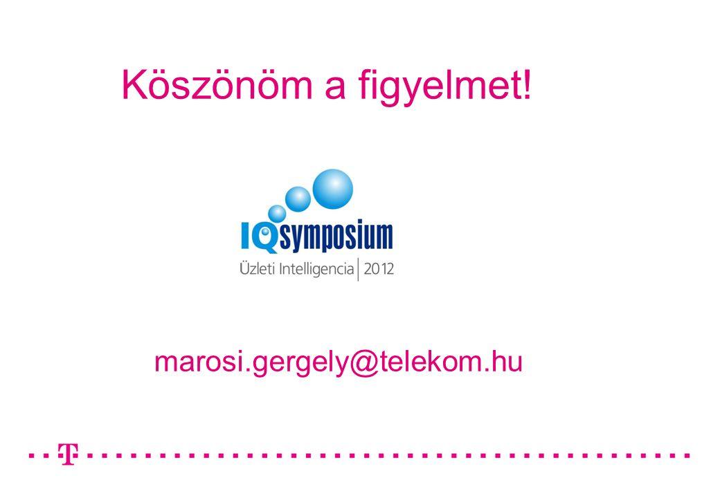 Köszönöm a figyelmet! marosi.gergely@telekom.hu