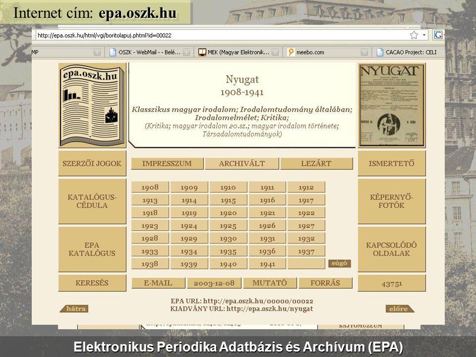 MEK: irodalmi tématérkép mek.oszk.hu/itm Internet cím: mek.oszk.hu/itm