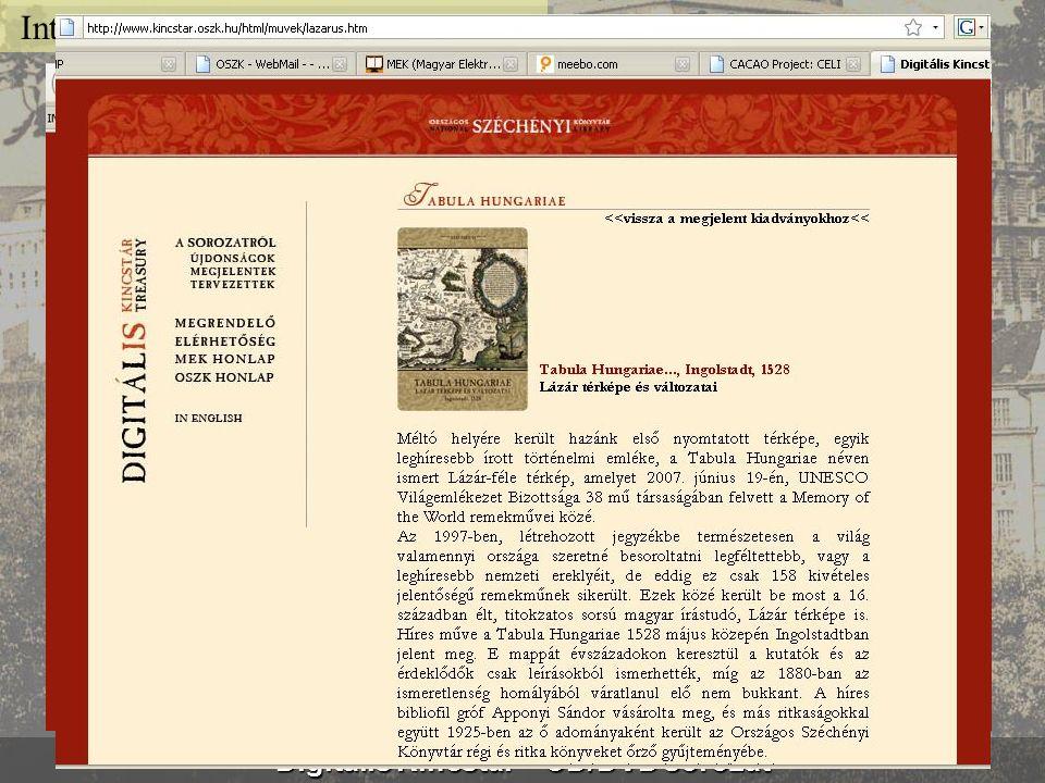 Bibliotheca Corviniana Digitalis www.corvina.oszk.hu Internet cím: www.corvina.oszk.hu
