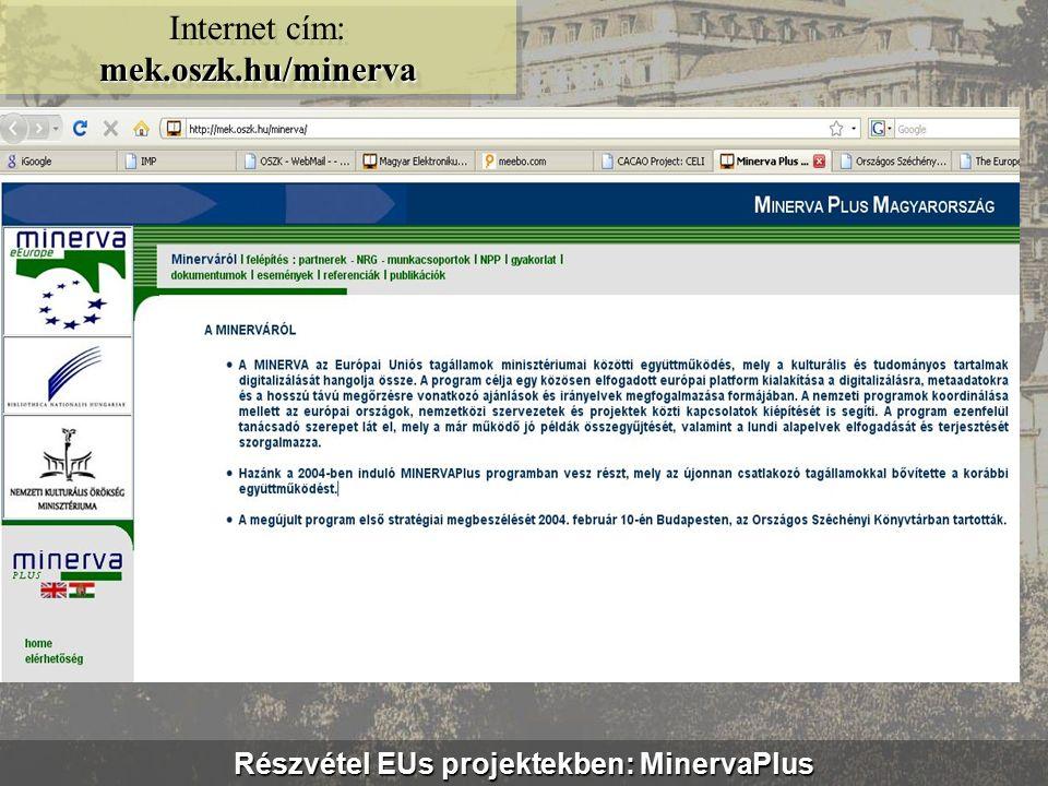 Digitális Kincstár – CD/DVD sorozat www.kincstar.oszk.hu Internet cím: www.kincstar.oszk.hu