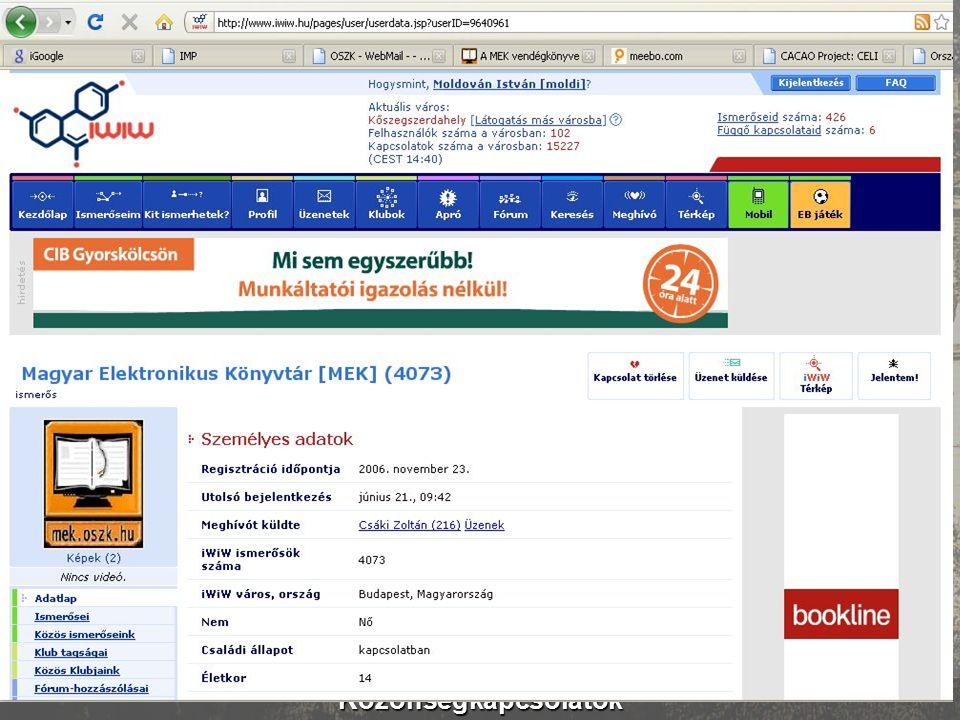 Magyar Elektronikus Könyvtárért Egyesület mek.oszk.hu/egyesulet Internet cím: mek.oszk.hu/egyesulet