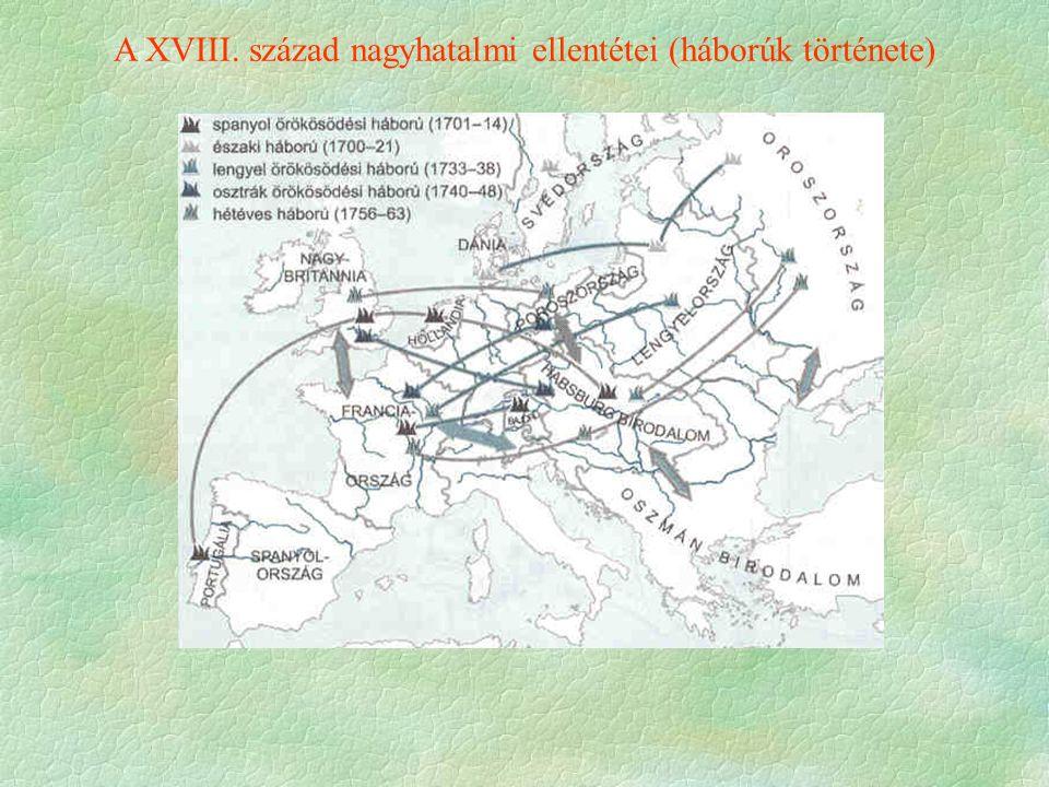 A XVIII. század nagyhatalmi ellentétei (háborúk története)