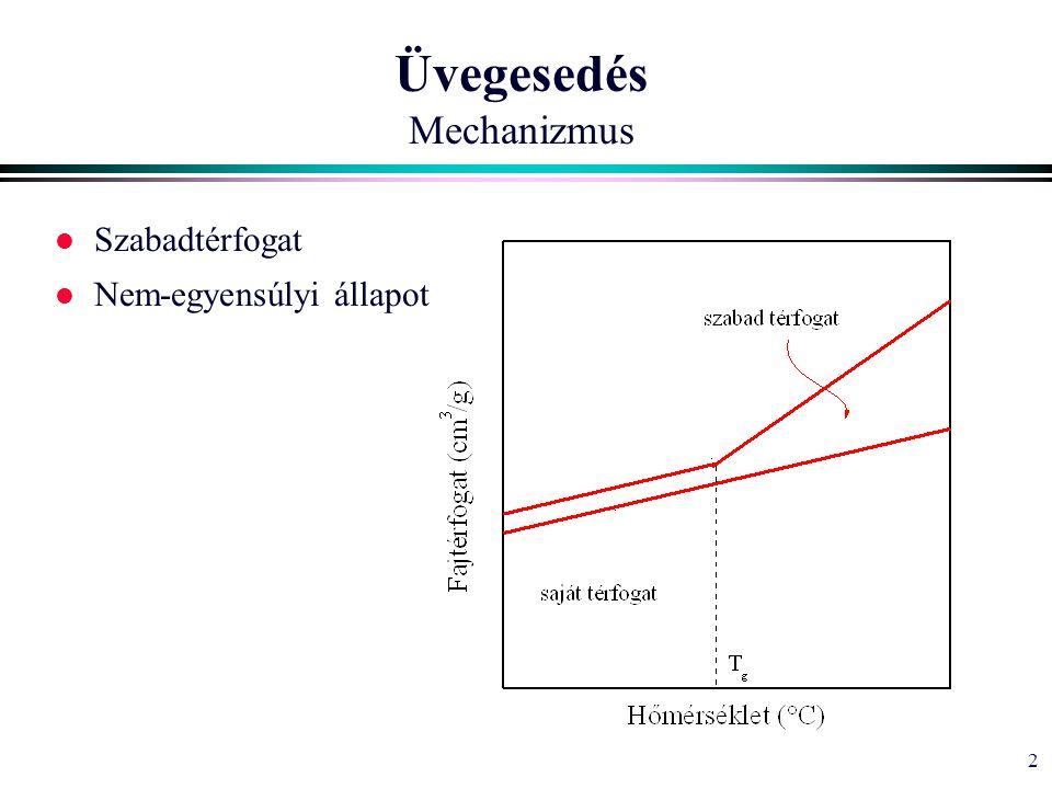 2 Üvegesedés Mechanizmus l Szabadtérfogat l Nem-egyensúlyi állapot