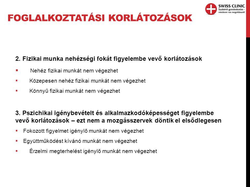 FOGLALKOZTATÁSI KORLÁTOZÁSOK 2.