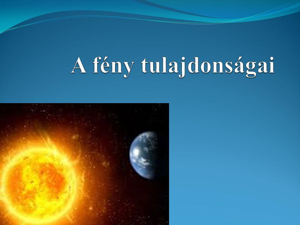 A fény mint anyag A fény olyan anyag, mely apró részecskékből, fotonokból áll.