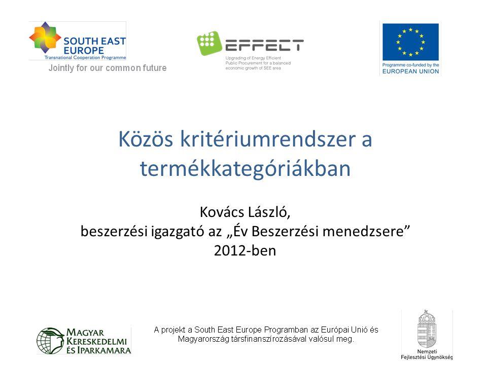 """Közös kritériumrendszer a termékkategóriákban Kovács László, beszerzési igazgató az """"Év Beszerzési menedzsere"""" 2012-ben"""