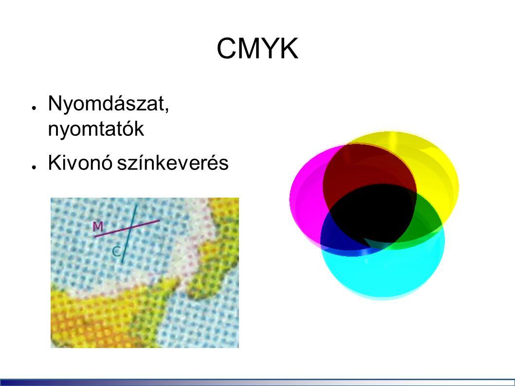 CMYK ● Nyomdászat, nyomtatók ● Kivonó színkeverés