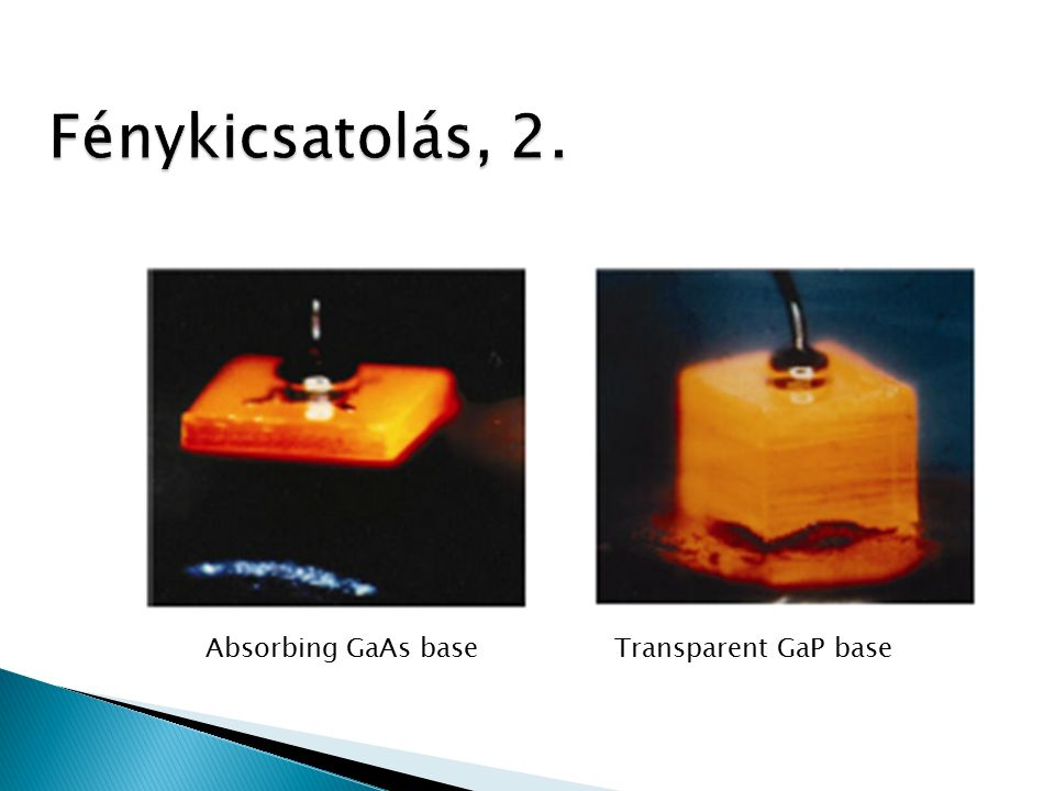 Absorbing GaAs base Transparent GaP base