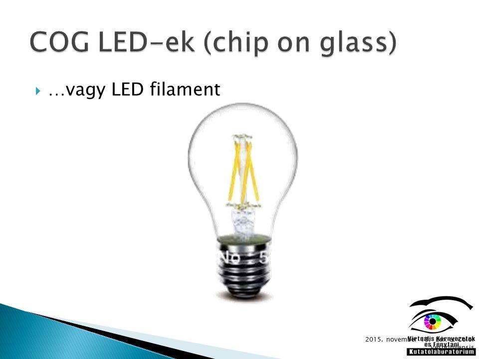  …vagy LED filament 2015. november 13. Lux et Color Vesprimiensis