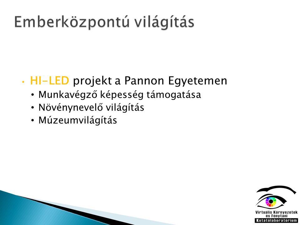 HI-LED projekt a Pannon Egyetemen Munkavégző képesség támogatása Növénynevelő világítás Múzeumvilágítás