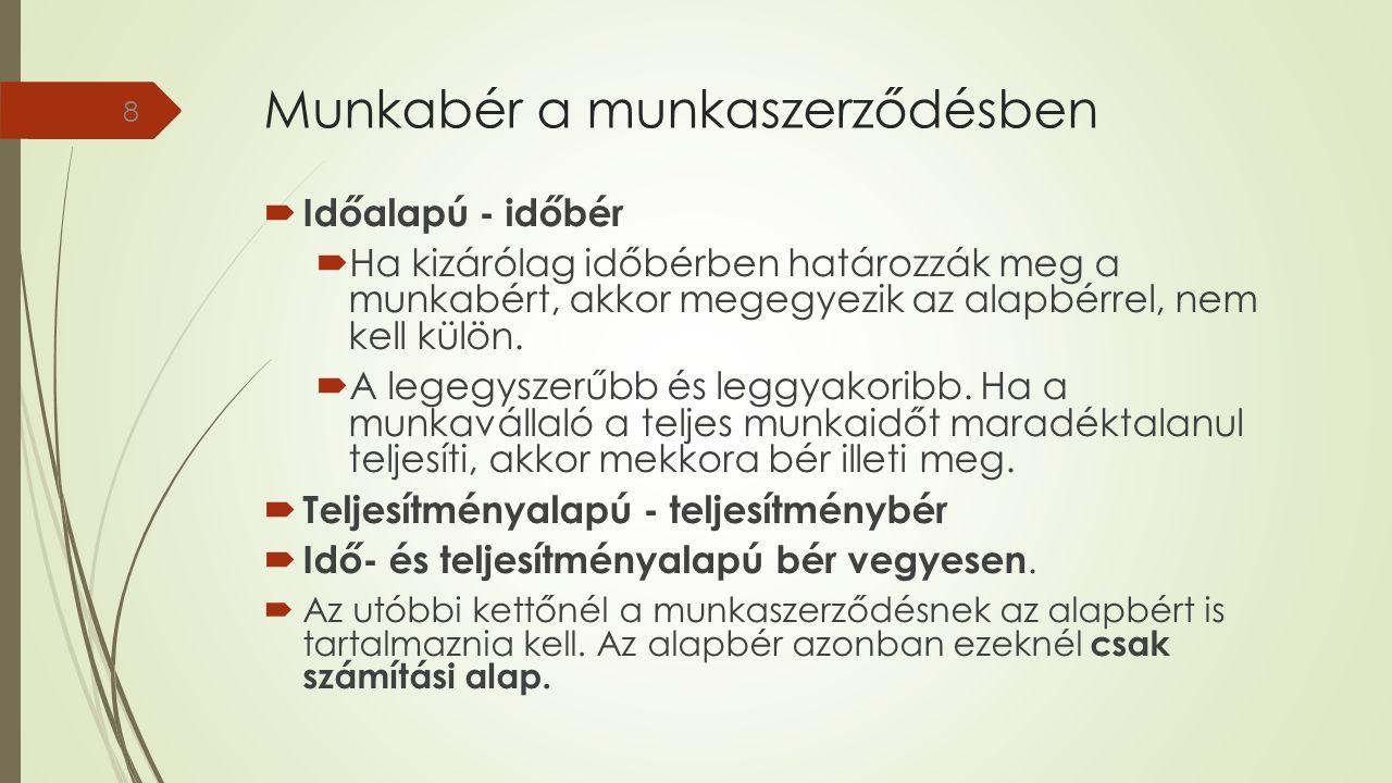 Munkabérnek nem minősülő munkáltatói juttatások (Szja. Tv. alapján) 29