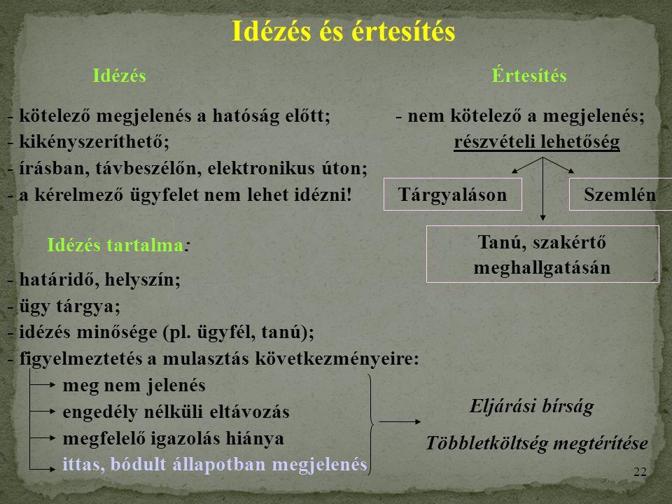21 A szakhatósági állásfoglaláshoz (hozzájárulás megadás, ill.