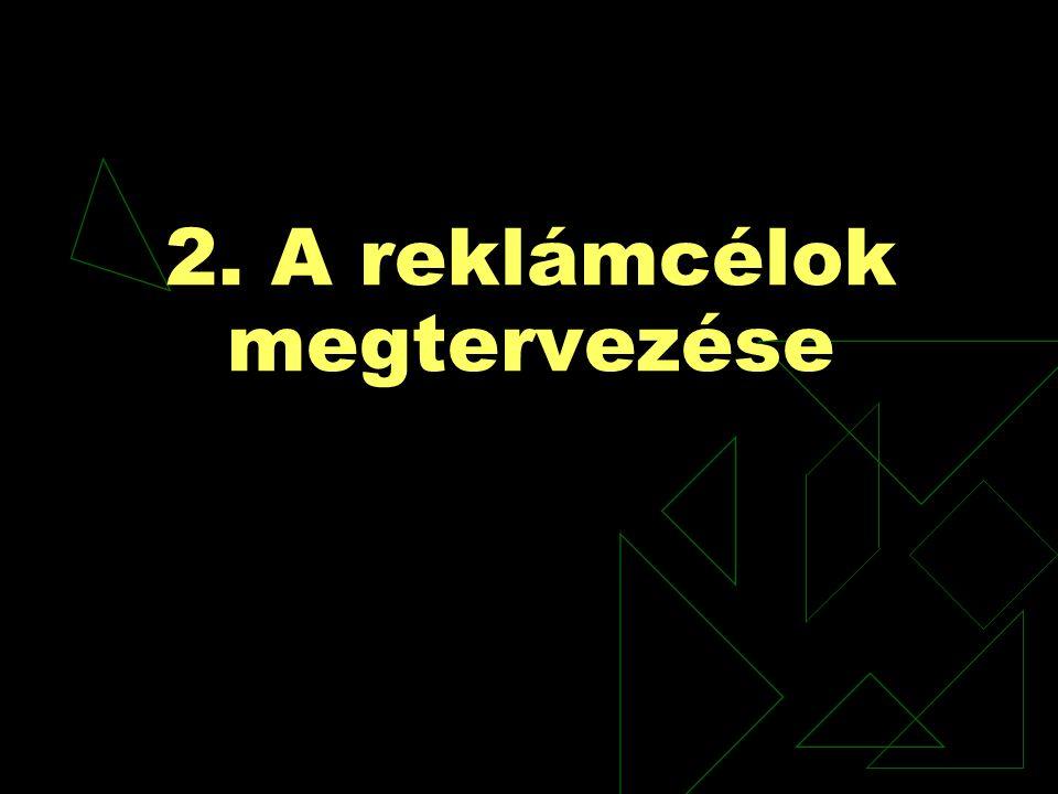 2. A reklámcélok megtervezése