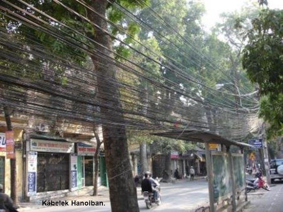Kábelek Hanoiban.
