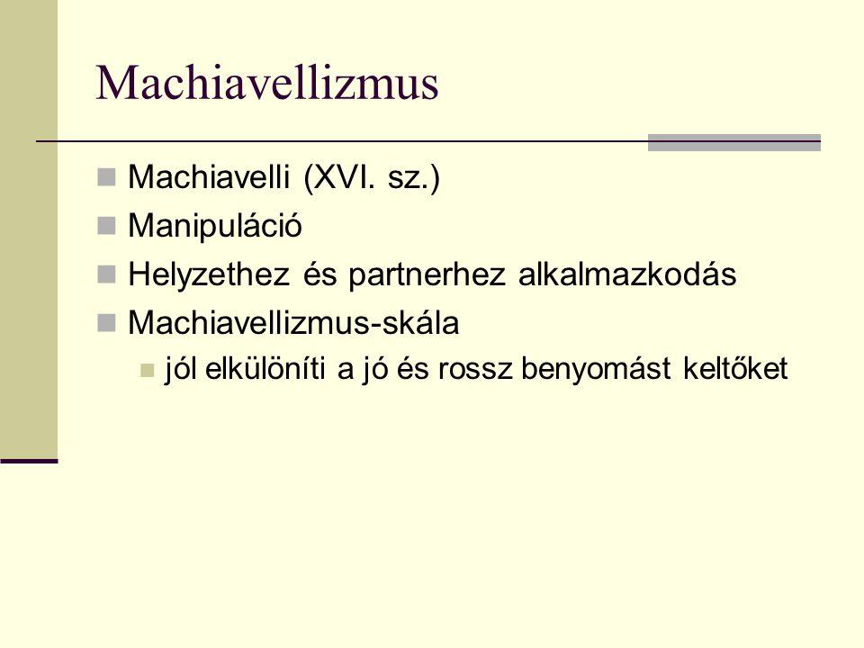 Machiavellizmus Machiavelli (XVI.