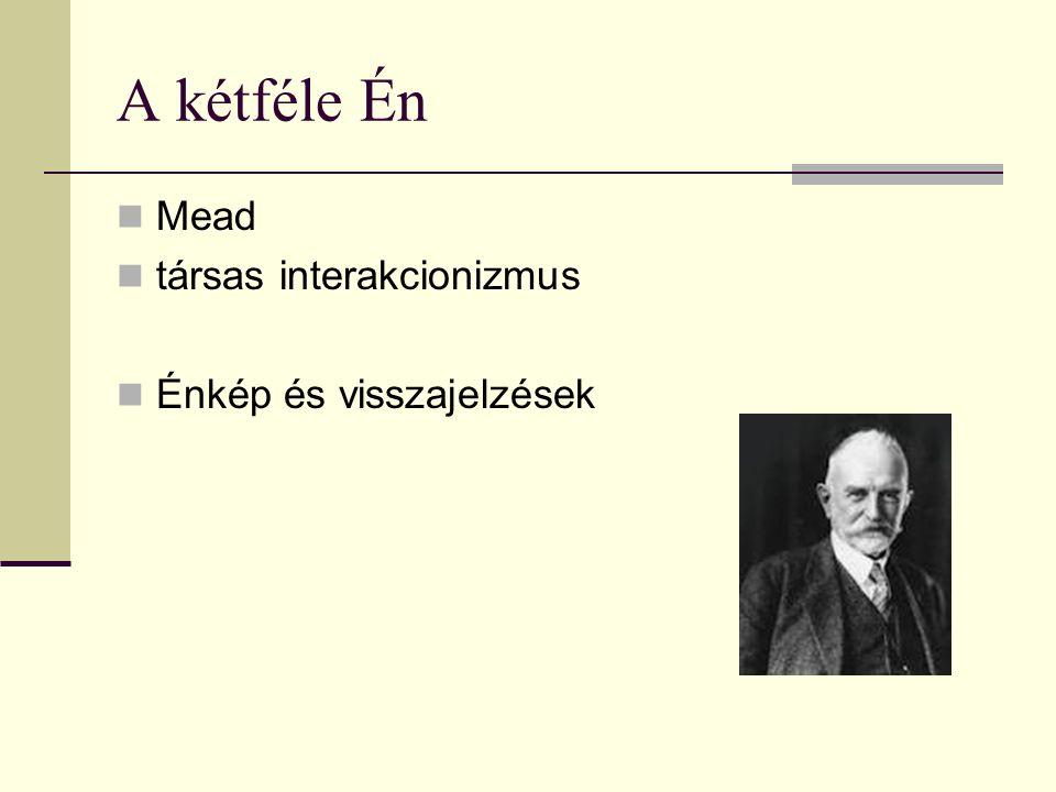 A kétféle Én Mead társas interakcionizmus Énkép és visszajelzések