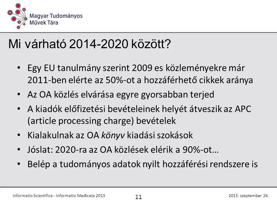 Mi várható 2014-2020 között.