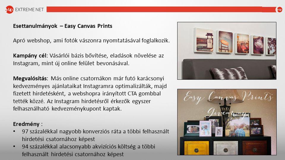 Esettanulmányok – Easy Canvas Prints Apró webshop, ami fotók vászonra nyomtatásával foglalkozik.
