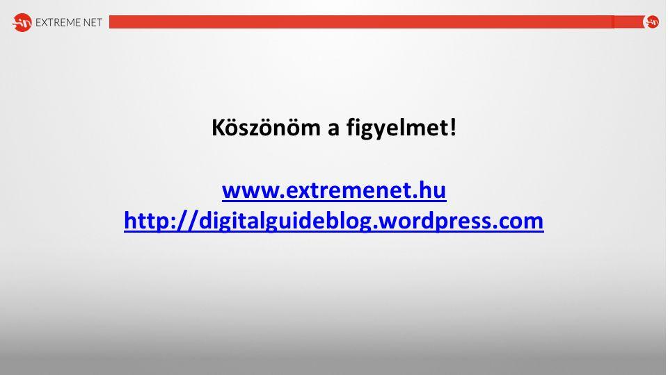Köszönöm a figyelmet! www.extremenet.hu http://digitalguideblog.wordpress.com