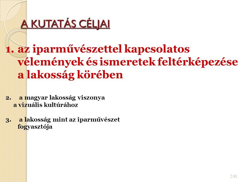 A KUTATÁS CÉLJAI 2/61 1.