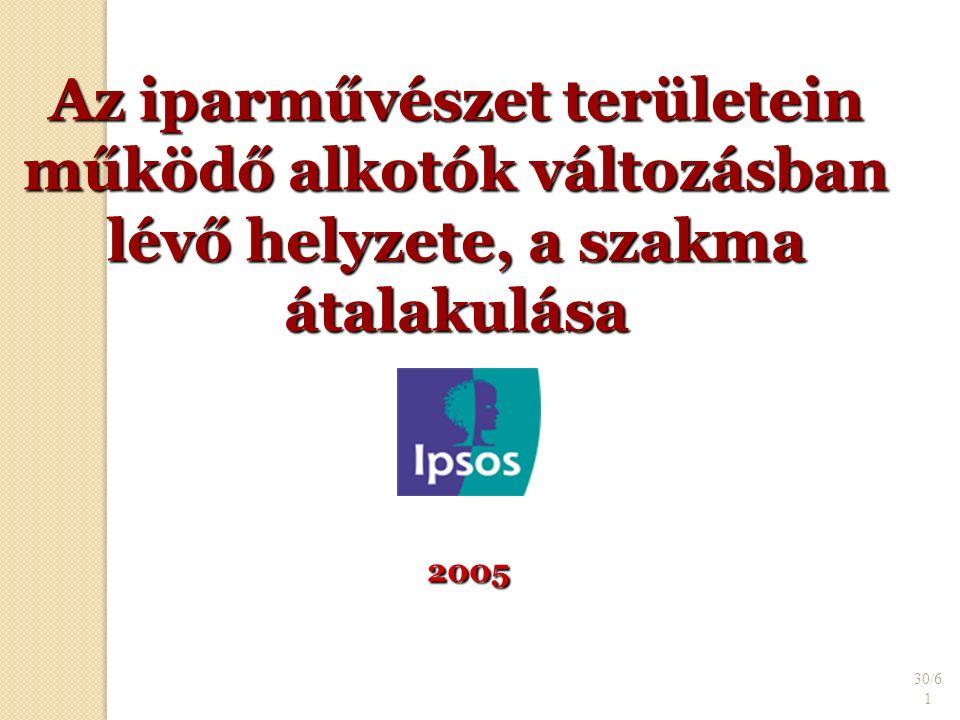 30/6 1 Az iparművészet területein működő alkotók változásban lévő helyzete, a szakma átalakulása 2005 2005