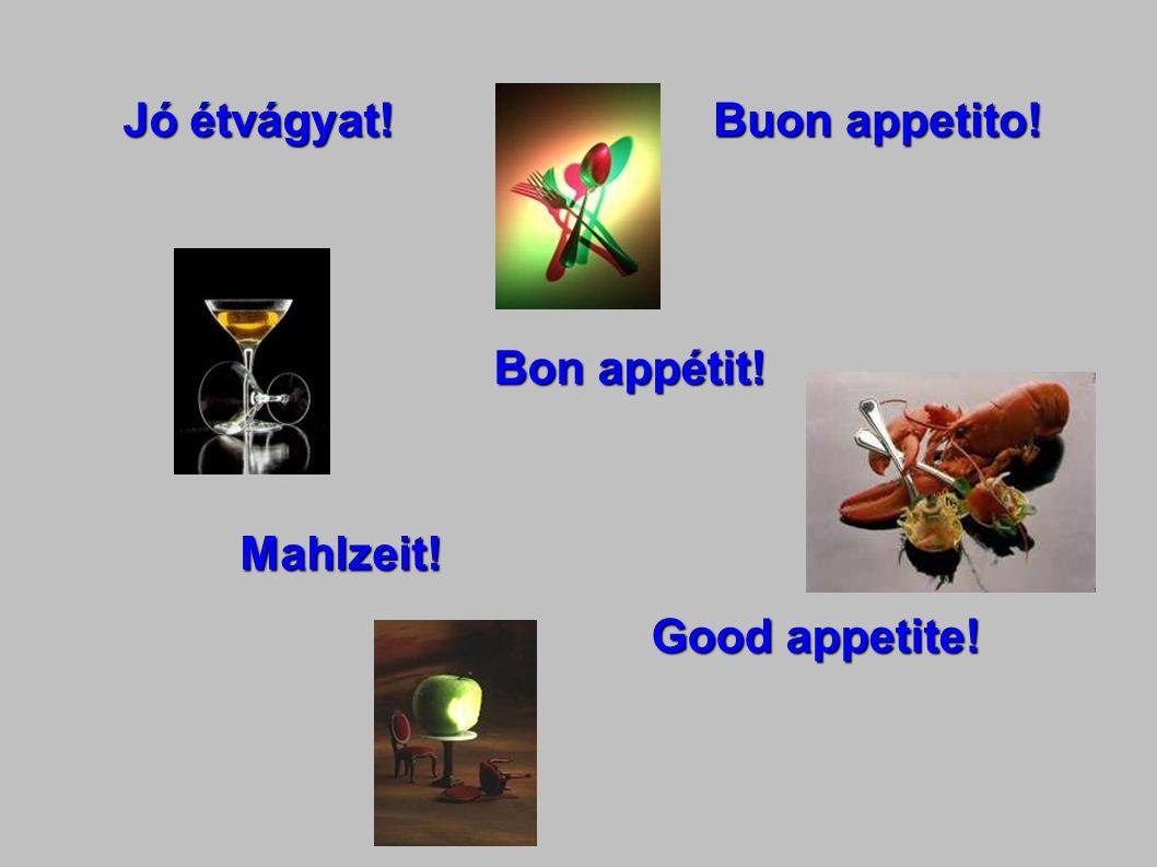 Jó étvágyat! Bon appétit! Mahlzeit! Good appetite! Buon appetito!