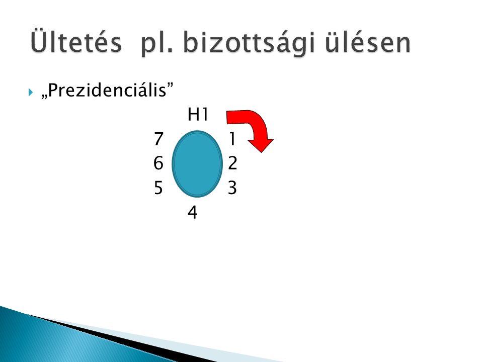 """ """"Prezidenciális H1 7 1 6 2 5 3 4"""