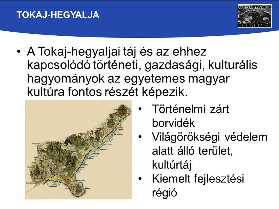 A Tokaj-hegyaljai táj és az ehhez kapcsolódó történeti, gazdasági, kulturális hagyományok az egyetemes magyar kultúra fontos részét képezik. TOKAJ-HEG